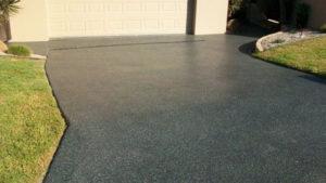 polished concrete driveway